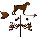 Handmade Boxer Dog Copper Weathervane