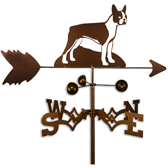 Handmade Boston Terrier Dog Copper Weathervane