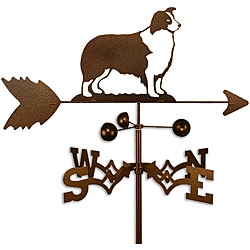 Handmade Border Collie Dog Copper Weathervane