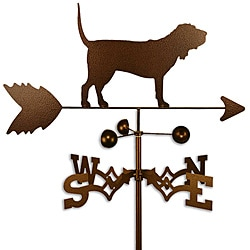 Handmade Bloodhound Dog Copper Weathervane