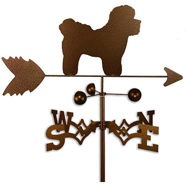 Handmade Bichon Dog Copper Weathervane