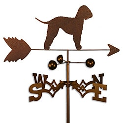 Handmade Bedlington Terrier Dog Copper Weathervane