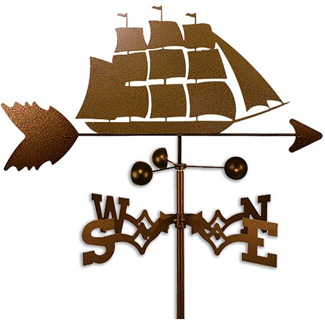 Handmade Clipper Ship Nautical Weathervane