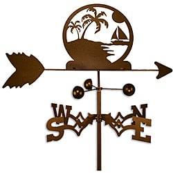 Handmade Palm Trees Beach Weathervane
