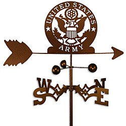 Handmade Armed Services US Army Weathervane