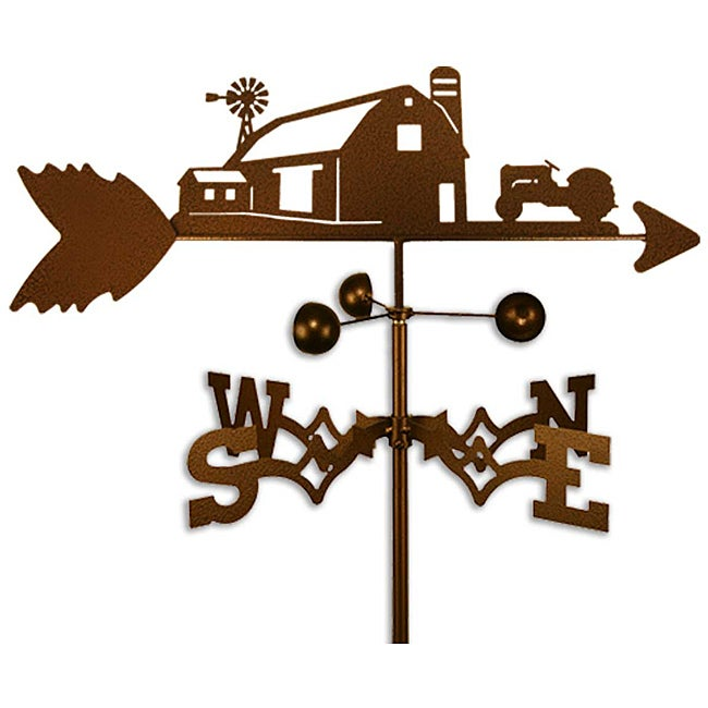 Farm Scene with Ford Tractor Copper-coated Steel Weathervane