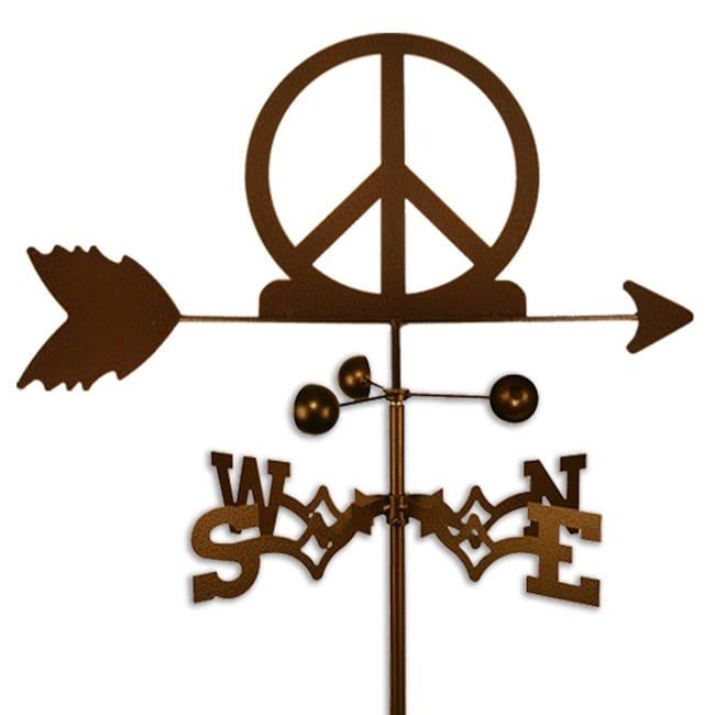 Handmade Woodstock Peace Sign Symbol Weathervane