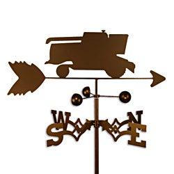 Handmade Combine Tractor Weathervane