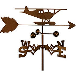 Float Plane Airplane Handmade Steel Weathervane
