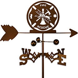 Handmade Fire Rescue Firefighter Weathervane