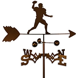 Handmade Football Quarterback Weathervane