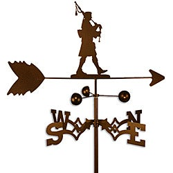 Scottish Bagpiper Steel Weathervane