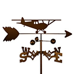 Handmade Taildragger Airplane Plane Weathervane