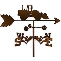 Handmade Front Wheel Loader Construction Vehicle Weathervane