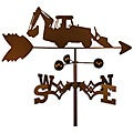 Handmade Backhoe Tractor Weathervane