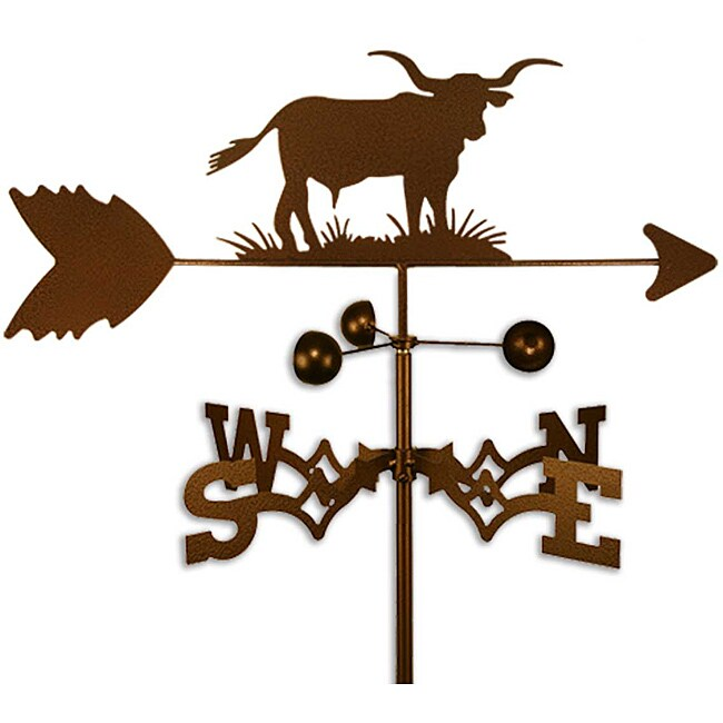 Handmade Longhorn Bull Steer Weathervane