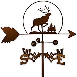 Handmade Elk Caribou Steel Weathervane