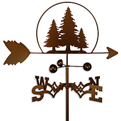 Handmade Pine Trees Weathervane
