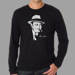Los Angeles Pop Art Men's 'Original Gangster' Capone L/S T-Shirt
