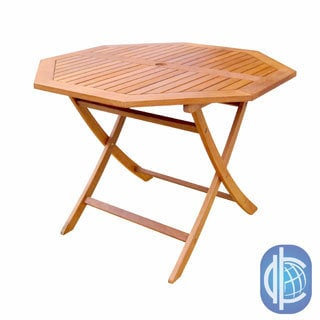 International Caravan Royal Tahiti Yellow Balau Hardwood Octagonal Table