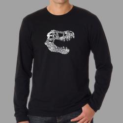 Los Angeles Pop Art Men's T-Rex Dinosaur Long Sleeve T-Shirt