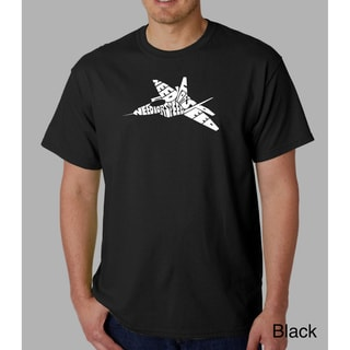 Los Angeles Pop Art Men's 'Need for Speed' Cotton T-Shirt