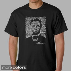 Los Angeles Pop Art Men's Abe Lincoln Cotton T-Shirt