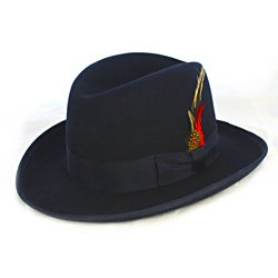 Ferrecci Men's 'Godfather' Navy Wool Fedora Hat