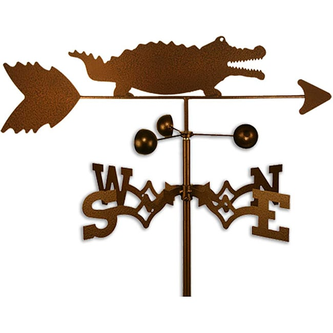 Handmade Alligator Crocodile Weathervane