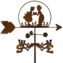 Handmade Dutch Boy and Girl Weathervane