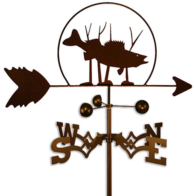 Handmade Walleye Fish Weathervane