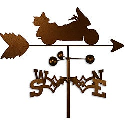 Handmade Gold Wing Motorcycle Weathervane