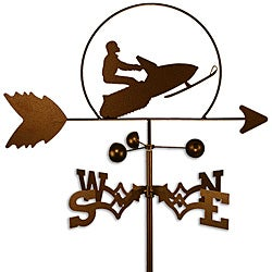 Handmade Snowmobile Sled Weathervane