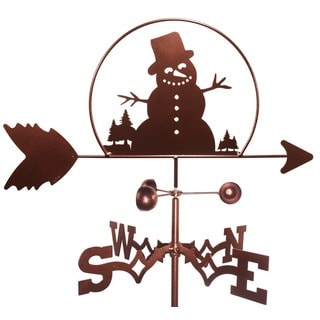 Handmade Winter Snowman Weathervane