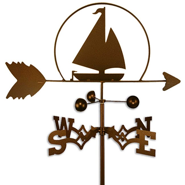 Handmade Nautical Sailboat Weathervane