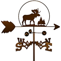 Handmade Wildlife Steel Moose Weathervane