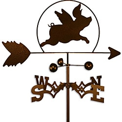 Handmade Flying Piggy Weathervane