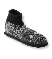 Muk Luks Men's 'Cullen' Black Nordic Knit Ankle Slippers