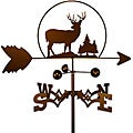 Rustic Handmade Deer Buck Weathervane
