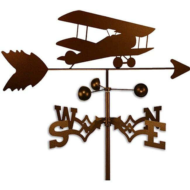 Handmade Bi-wing Airplane Weathervane