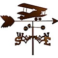 Handmade Bi-wing Airplane Weathervane