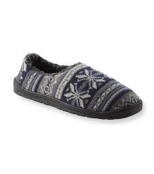 Muk Luks Men's 'John' Navy Fairisle Knit Foot Slippers