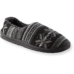 Muk Luks Men's 'John' Black Fairisle Knit Foot Slippers