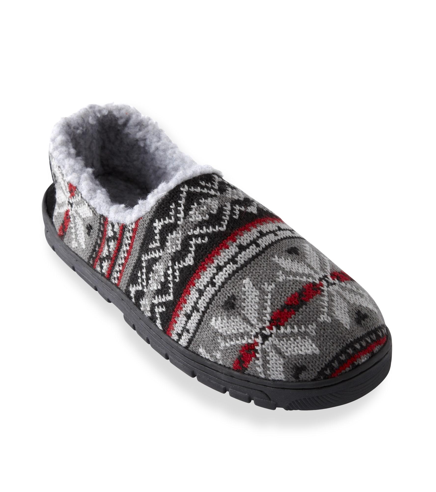 Muk Luks Men's 'John' Red Fairisle Knit Foot Slippers