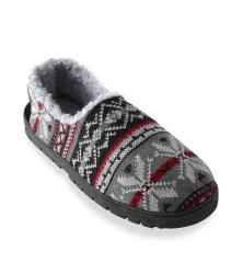 Muk Luks Men's 'John' Red Fairisle Knit Foot Slippers