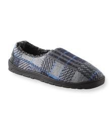 Muk Luks Men's 'Tom' Blue Plaid Knit Foot Slippers