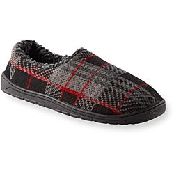 Muk Luks Men's 'Tom' Red Plaid Knit Foot Slippers