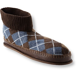 Muk Luks Men's 'Sheldon' Brown Argyle Knit Ankle Slippers