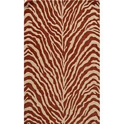 Bengal Salmon Wool Rug (9'6 x 13')