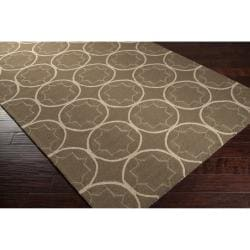 Hand-hooked Brown Maybelle Indoor/Outdoor Moroccan Trellis Rug (9' x 12')